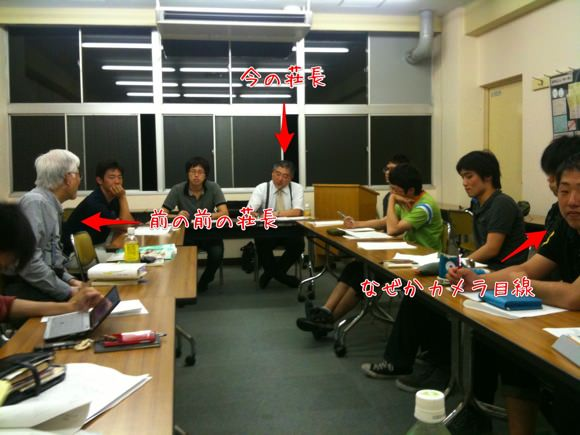 水曜日はリーダー会|前々荘長による座学リーダートレーニングでした。