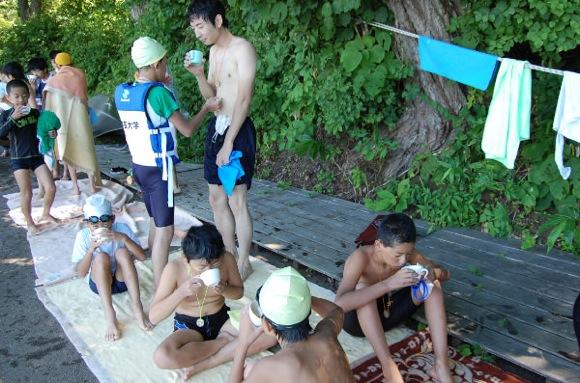 085f952d20e02469598f64d1f5f1d13f1 - 第77回野尻学荘 12日目 遠泳は無事に終了しました。