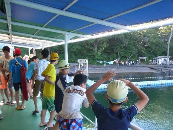 478cfc630c5d085b13e459225112ac18 - 第77回野尻学荘 12日目 遠泳は無事に終了しました。