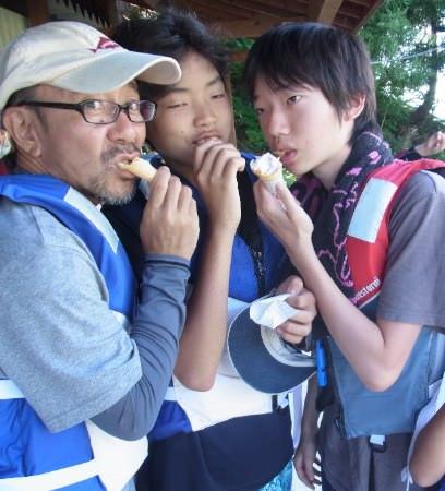 5 - 第77回野尻学荘 11日目 ローイング実修はおしまに行って来ました。