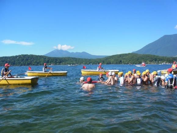 702c078dfe58e6f94f94429f56ba21831 - 第77回野尻学荘 12日目 遠泳は無事に終了しました。