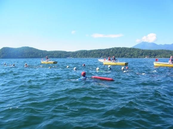 930d66e6964a6b8849d30b21ced2b4961 - 第77回野尻学荘 12日目 遠泳は無事に終了しました。