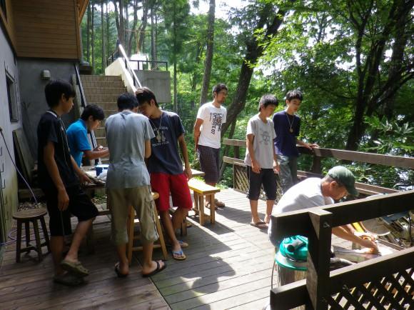 第76回野尻学荘 10日目 木工プログラム@桐久保工房