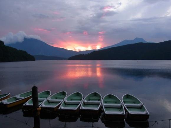 b48a646ff63a3494280ac5eecdae4362 - 第77回野尻学荘 8日目 大雨の後は夕陽が綺麗でした