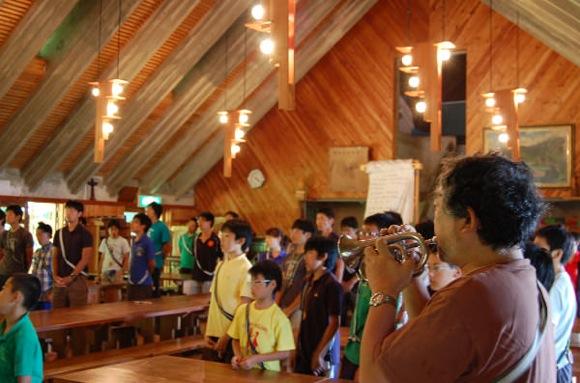 第77回野尻学荘 13日目 午後には荘会が行われました