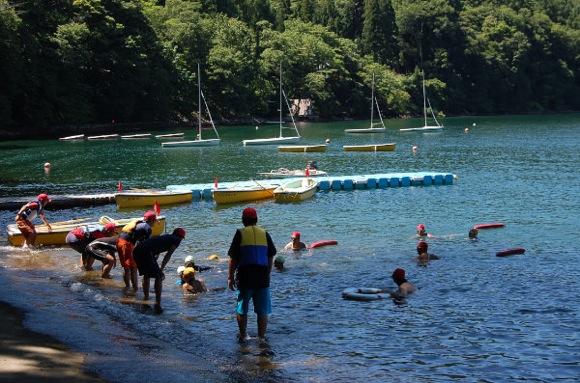 fc50aef6c8d6fae1698646cd7e8dd65a - 第77回野尻学荘 12日目 遠泳は無事に終了しました。