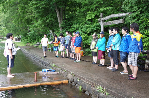 第78回野尻学荘 リーダートレーニングキャンプ 水場の安全管理