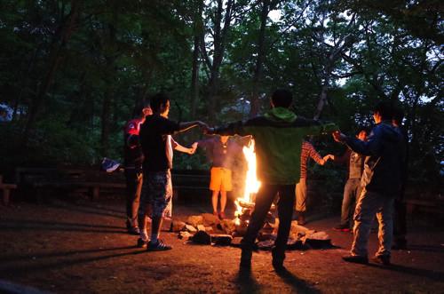 GR000218 - 第78回野尻学荘 リーダートレーニングキャンプ キャンプファイヤーのトレーニング