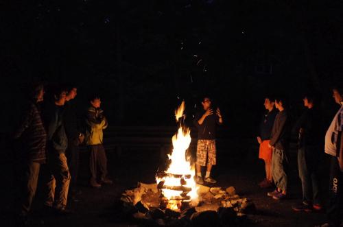 GR000238 - 第78回野尻学荘 リーダートレーニングキャンプ キャンプファイヤーのトレーニング