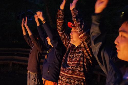 GR000218 第78回野尻学荘 リーダートレーニングキャンプ キャンプファイヤーのトレーニング