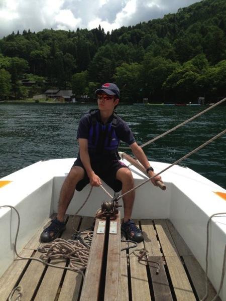 第78回野尻学荘 水小舎便り ヨットの特訓中