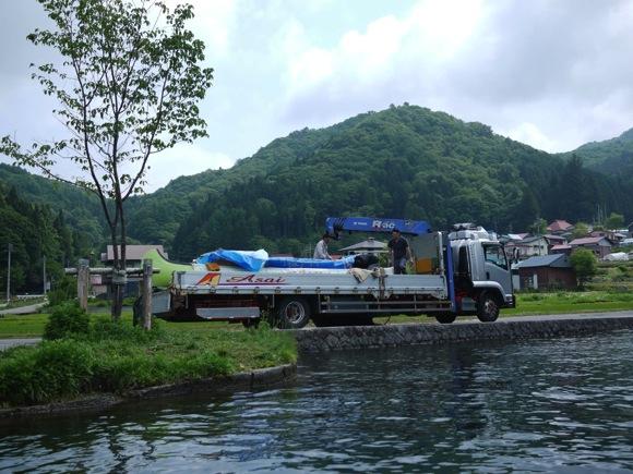 ng78 3 - 第78回野尻学荘 水小舎便り ビッグカヌーとカナディアンカヌーがやってきた!