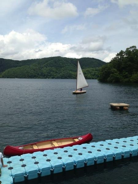 第78回野尻学荘 水小舎便り ヨットの着艇トレーニング