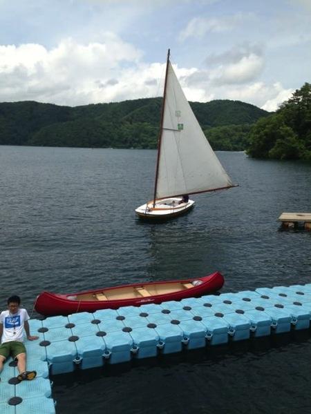 IMG 0229 - 第78回野尻学荘 水小舎便り ヨットの着艇トレーニング