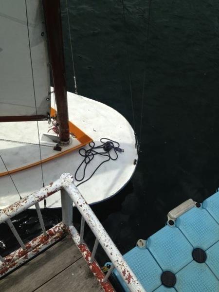 IMG 0250 - 第78回野尻学荘 水小舎便り ヨットの着艇トレーニング