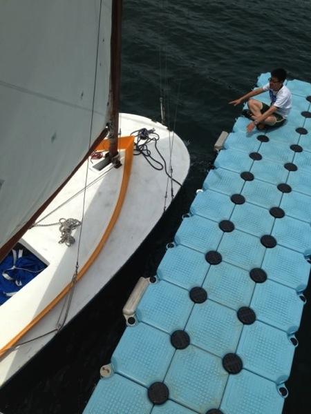 IMG 0252 - 第78回野尻学荘 水小舎便り ヨットの着艇トレーニング