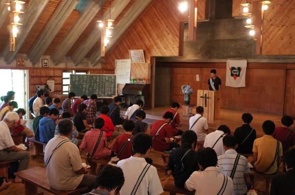 第78回野尻学荘10日目 午前中は主日礼拝と荘会でした