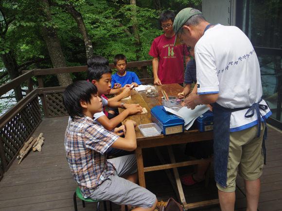 第78回野尻学荘10日目 桐久保工房へスーパーいのちを作りに行きました