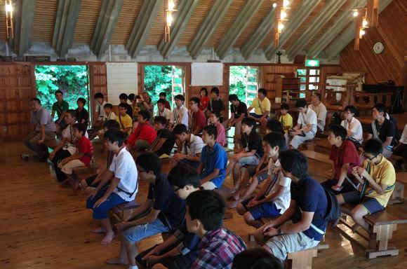 624b45088717ee4be7518b0ececba49a9 - 第78回野尻学荘10日目 午前中は主日礼拝と荘会でした