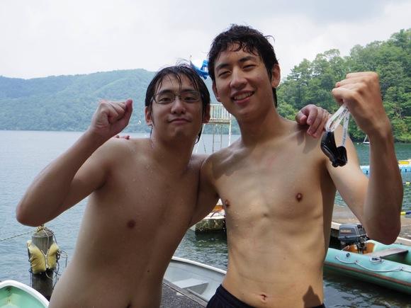 IMGP0146 - 第78回野尻学荘2日目 午前中は水上オリエンテーションと泳力チェックでした