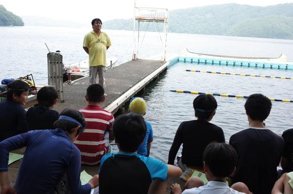 IMG 9214 - 第78回野尻学荘2日目 午前中は水上オリエンテーションと泳力チェックでした