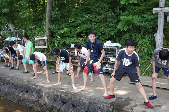 IMG 9221 - 第78回野尻学荘2日目 午前中は水上オリエンテーションと泳力チェックでした
