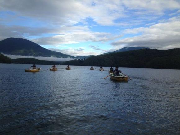 第79回野尻学荘 現地リーダートレーニング!朝6時からローボートのトレーニングを1時間!