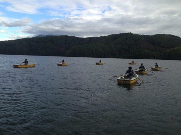 IMG 1294 - 第79回野尻学荘 現地リーダートレーニング!朝6時からローボートのトレーニングを1時間!