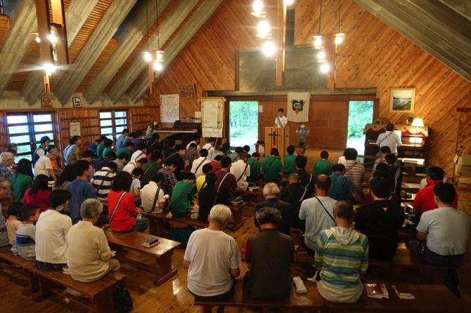 DSC00262 - 本日は日曜日なので午前中は主日礼拝でした|第79回野尻学荘8日目
