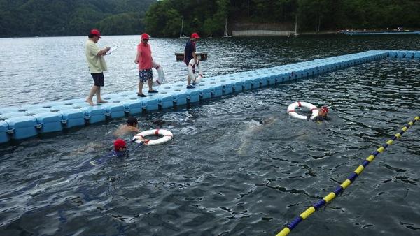 P1130775 午前中は泳力チェックを行いました!|第79回野尻学荘2日目