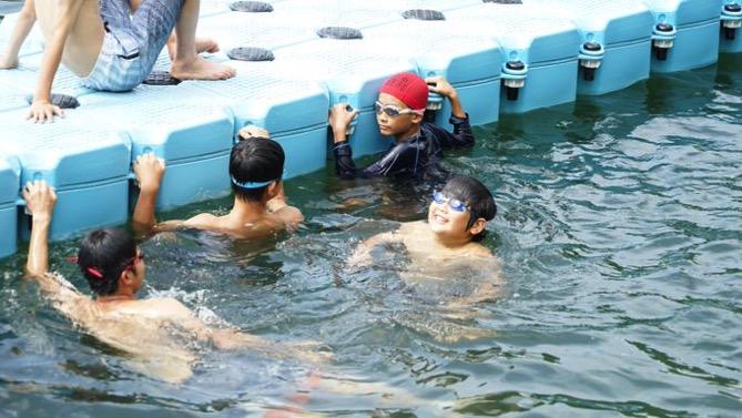DSC00392 - 午後のフリータイムは水場が大盛況でした|第80回野尻学荘