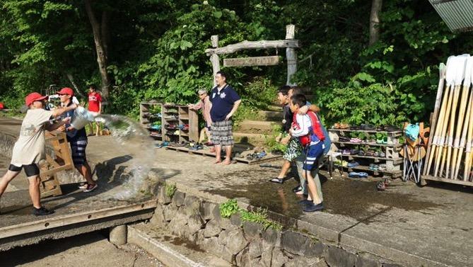 DSC00421 - 午後のフリータイムは水場が大盛況でした|第80回野尻学荘