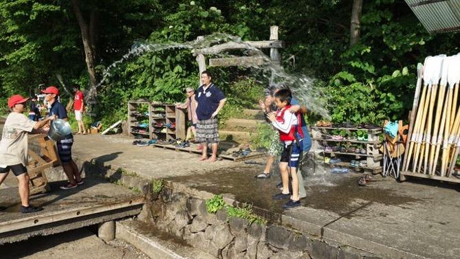 DSC00424 - 午後のフリータイムは水場が大盛況でした|第80回野尻学荘