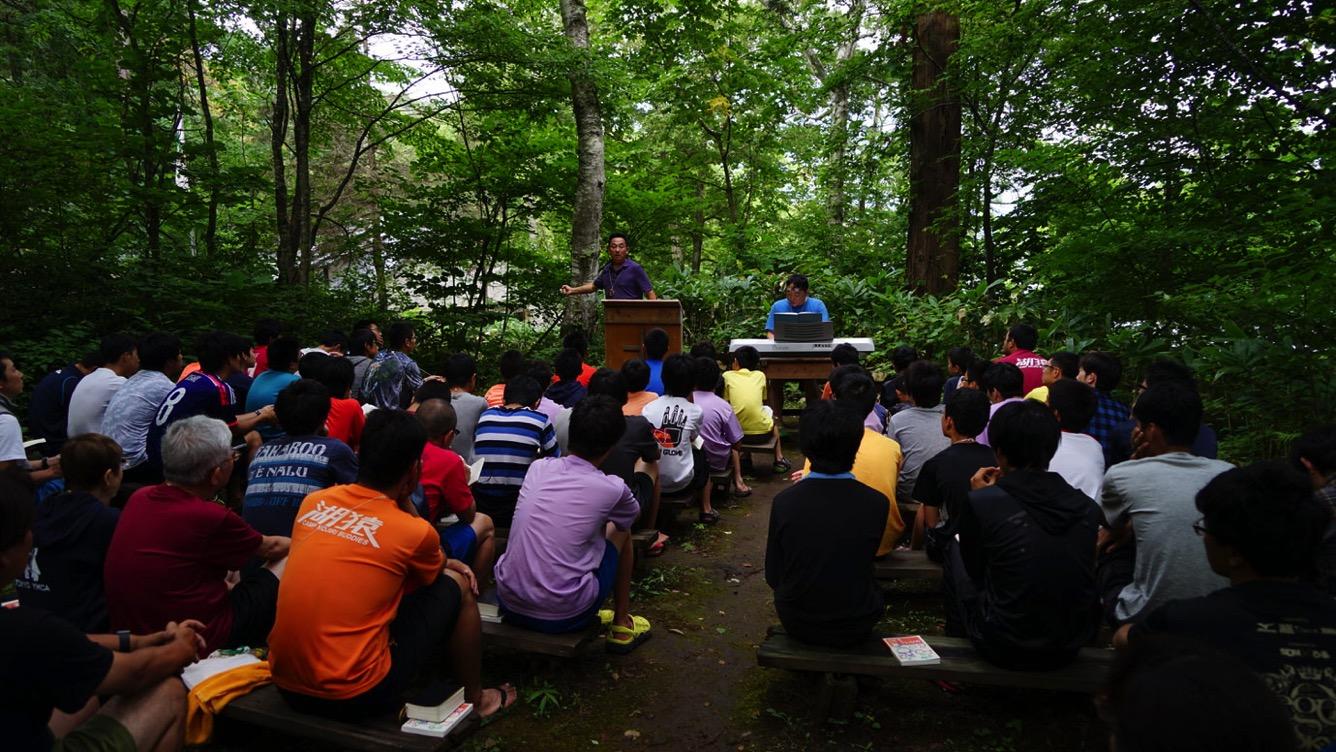 10日目午前、久しぶりのグリーンチャペルでの礼拝でした|第81回野尻学荘
