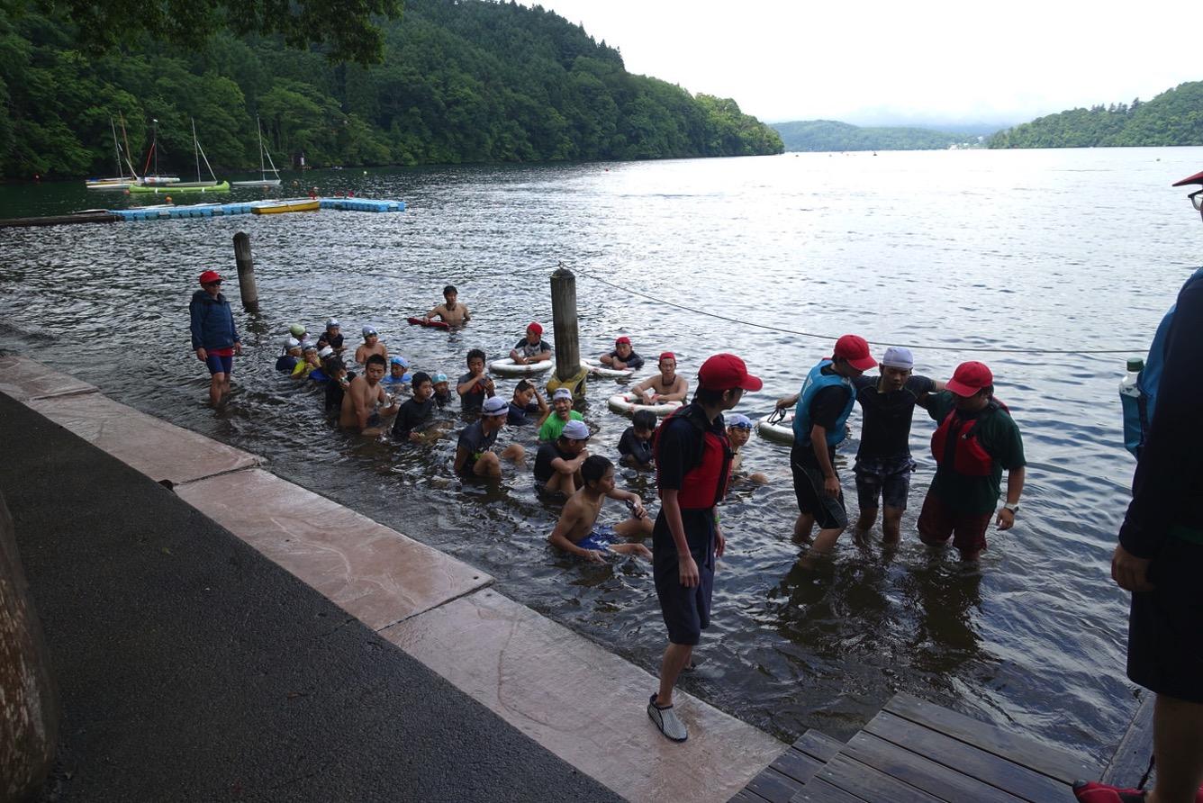 DSC02265 - 遠泳は無事に完了しました。|第82回野尻学荘11日目