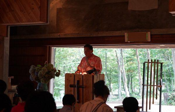 主日礼拝、荘会が行われました 第83回野尻学荘 11日目