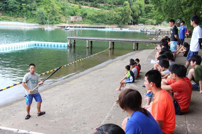 IMG 7526 - 水上オリエンテーション・泳力チェックが行われました | 第83回野尻学荘 2日目