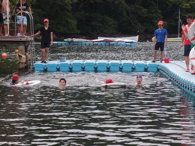 P8100310 - 水上オリエンテーション・泳力チェックが行われました | 第83回野尻学荘 2日目