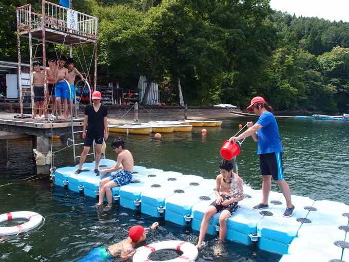 P8100323 - 水上オリエンテーション・泳力チェックが行われました | 第83回野尻学荘 2日目