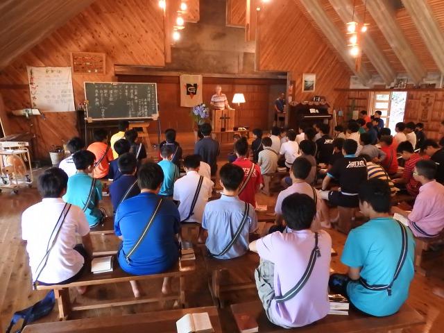 学荘 主日礼拝 - 主日礼拝が行われました。|第84回野尻学荘3日目