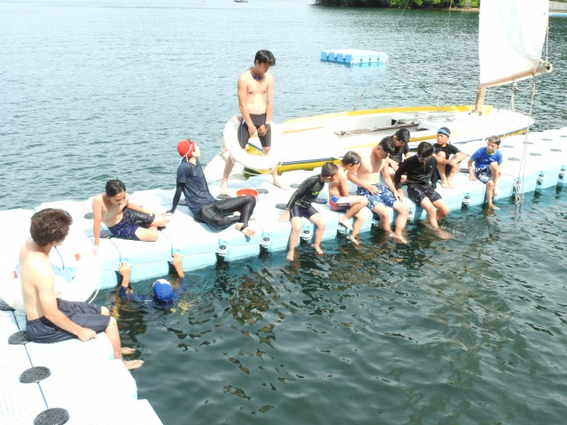 実修 水泳 - 実修が始まりました! 第84回野尻学荘4日目
